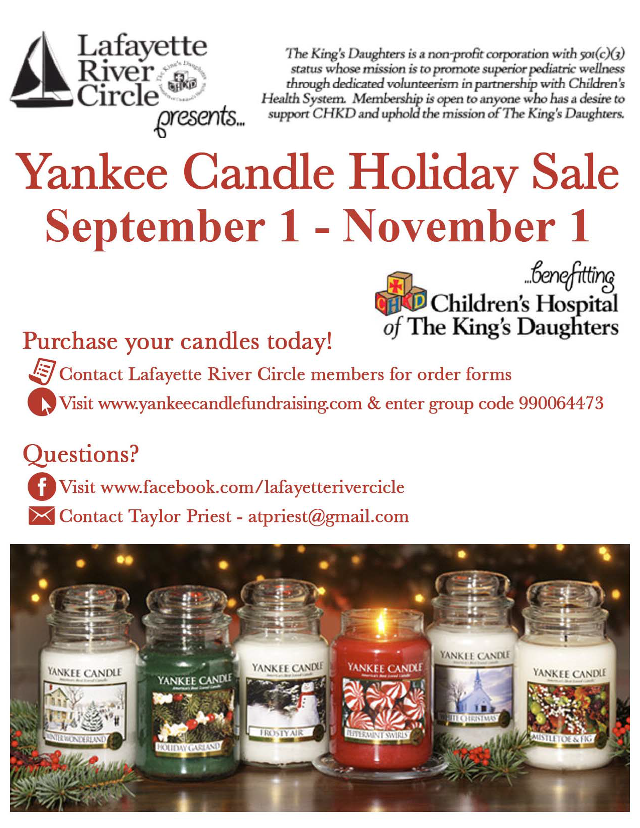 Yankee Candle Fundraiser – Lafayette River Circle